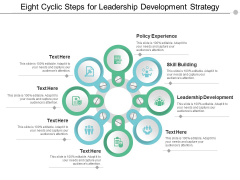 eight cyclic steps for leadership development strategy ppt powerpoint presentation styles infographics