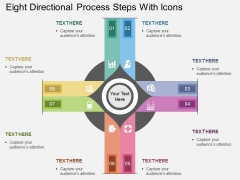 Eight Directional Process Steps With Icons Powerpoint Template