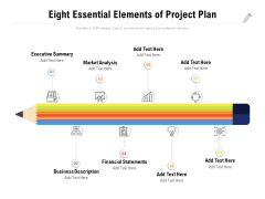Eight Essential Elements Of Project Plan Ppt PowerPoint Presentation Summary Good