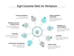 Eight Essential Skills For Workplace Ppt PowerPoint Presentation Gallery Backgrounds