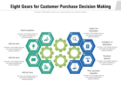 Eight Gears For Customer Purchase Decision Making Ppt PowerPoint Presentation File Sample PDF