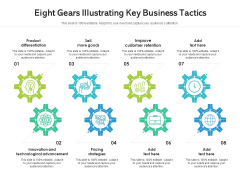 Eight Gears Illustrating Key Business Tactics Ppt PowerPoint Presentation Gallery Grid PDF