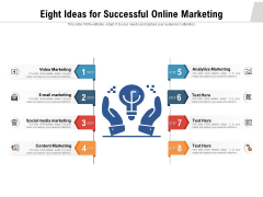 Eight Ideas For Successful Online Marketing Ppt PowerPoint Presentation Inspiration PDF