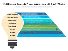 Eight Ideas For Successful Project Management With Quality Metrics Ppt PowerPoint Presentation Icon Show PDF