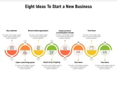 Eight Ideas To Start A New Business Ppt PowerPoint Presentation Slides Visual Aids PDF