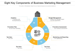 Eight Key Components Of Business Marketing Management Ppt PowerPoint Presentation Layouts Styles PDF