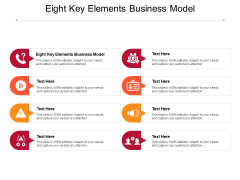 Eight Key Elements Business Model Ppt PowerPoint Presentation Professional Graphics Cpb Pdf
