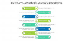 Eight Key Methods Of Successful Leadership Ppt PowerPoint Presentation Gallery Styles PDF