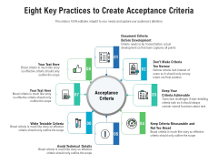 Eight Key Practices To Create Acceptance Criteria Ppt PowerPoint Presentation Gallery Summary PDF