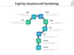 Eight Key Questions With Numberings Ppt PowerPoint Presentation Gallery Show PDF