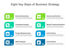 Eight Key Steps Of Business Strategy Ppt PowerPoint Presentation Styles Images PDF