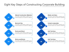 Eight Key Steps Of Constructing Corporate Building Ppt PowerPoint Presentation Outline Show PDF