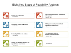 Eight Key Steps Of Feasibility Analysis Ppt PowerPoint Presentation Model Graphics Tutorials PDF