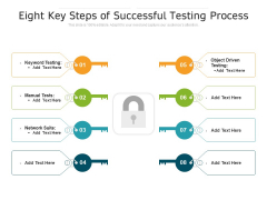 Eight Key Steps Of Successful Testing Process Ppt PowerPoint Presentation Model Visuals PDF