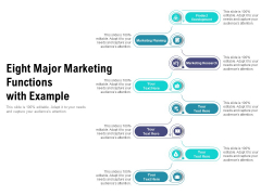 Eight Major Marketing Functions With Example Ppt PowerPoint Presentation Pictures Example PDF
