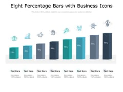 Eight Percentage Bars With Business Icons Ppt PowerPoint Presentation Icon Graphic Tips