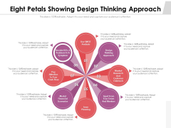 Eight Petals Showing Design Thinking Approach Ppt PowerPoint Presentation Professional Portrait PDF