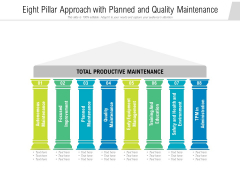 Eight Pillar Approach With Planned And Quality Maintenance Ppt PowerPoint Presentation Professional Portfolio PDF
