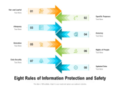 Eight Rules Of Information Protection And Safety Ppt PowerPoint Presentation Gallery Show PDF