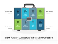 Eight Rules Of Successful Business Communication Ppt PowerPoint Presentation Diagram Templates PDF