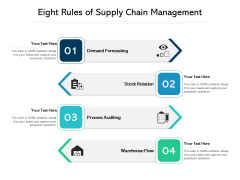 Eight Rules Of Supply Chain Management Ppt PowerPoint Presentation File Visuals PDF