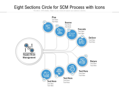 Eight Sections Circle For SCM Process With Icons Ppt PowerPoint Presentation Gallery Guide PDF