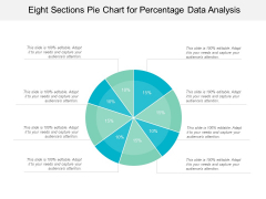 Eight Sections Pie Chart For Percentage Data Analysis Ppt PowerPoint Presentation Styles Icons