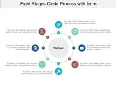 Eight Stages Circle Process With Icons Ppt PowerPoint Presentation Layouts Professional