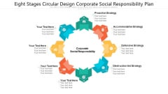 Eight Stages Circular Design Corporate Social Responsibility Plan Ppt PowerPoint Presentation File Format Ideas PDF