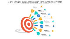 Eight Stages Circular Design For Company Profile Ppt PowerPoint Presentation Gallery Mockup PDF