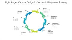Eight Stages Circular Design For Successful Employee Training Ppt PowerPoint Presentation File Gridlines PDF