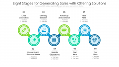 Eight Stages For Generating Sales With Offering Solutions Ppt PowerPoint Presentation Diagram Templates PDF