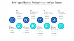 Eight Stages Of Business Purchase Decision With Team Selection Ppt PowerPoint Presentation Gallery Guide PDF