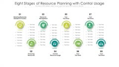 Eight Stages Of Resource Planning With Control Usage Ppt PowerPoint Presentation File Rules PDF