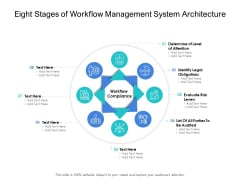 Eight Stages Of Workflow Management System Architecture Ppt PowerPoint Presentation Slides Icons PDF