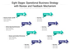 Eight Stages Operational Business Strategy With Review And Feedback Mechanism Ppt PowerPoint Presentation Outline Deck PDF
