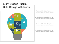 Eight Stages Puzzle Bulb Design With Icons Ppt PowerPoint Presentation Show Design Ideas