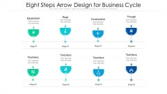 Eight Steps Arrow Design For Business Cycle Ppt PowerPoint Presentation File Sample PDF
