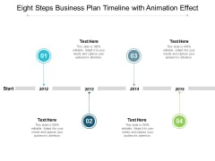 Eight Steps Business Plan Timeline With Animation Effect Ppt PowerPoint Presentation Infographic Template Smartart