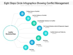 Eight Steps Circle Infographics Showing Conflict Management Ppt PowerPoint Presentation Icon Model PDF