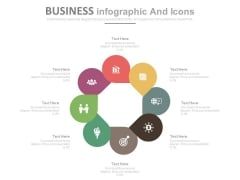 Eight Steps Circular Business Infographics Powerpoint Slides