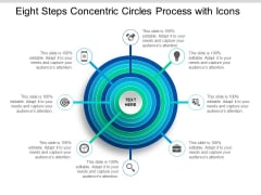 Eight Steps Concentric Circles Process With Icons Ppt Powerpoint Presentation File Influencers