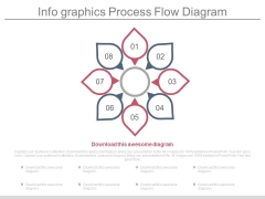 Eight Steps Flower Diagram For Process Flow Powerpoint Slides