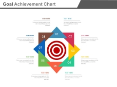 Eight Steps Goal Achievement Chart Powerpoint Slides