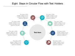 Eight Steps In Circular Flow With Text Holders Ppt PowerPoint Presentation Portfolio Background Images