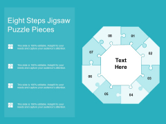 Eight Steps Jigsaw Puzzle Pieces Ppt PowerPoint Presentation Styles Diagrams