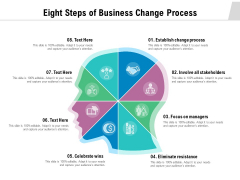 Eight Steps Of Business Change Process Ppt PowerPoint Presentation Professional Outline PDF