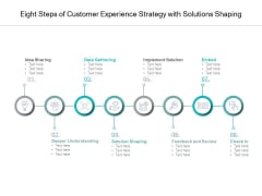 Eight Steps Of Customer Experience Strategy With Solutions Shaping Ppt PowerPoint Presentation Professional Aids