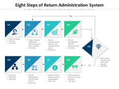 Eight Steps Of Return Administration System Ppt PowerPoint Presentation Gallery Graphics Pictures PDF