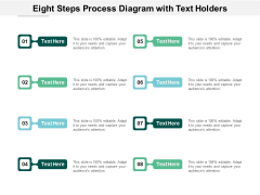 Eight Steps Process Diagram With Text Holders Ppt PowerPoint Presentation Icon Demonstration